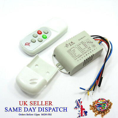 3 Way Button Light Switch Remote Control 230V RF Controller