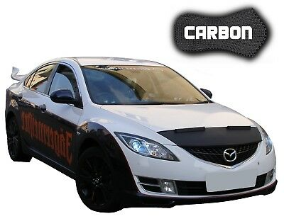 Bonnet Bra Mazda 6 GH CARBON Car Mask Hood Cover Front End Stone protection NEW