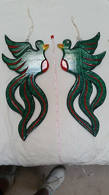 Left and Right Quetzal pair, handmade in Guatemala