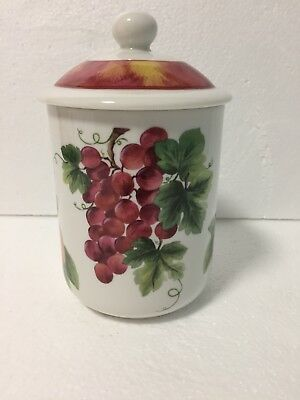 Royal Doulton Everyday Vintage Grape Pattern TC1193 SMALL CANISTER With Lid