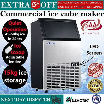 Commercial Ice Cube Maker Machine Portable Auto Café Home Business Domestic