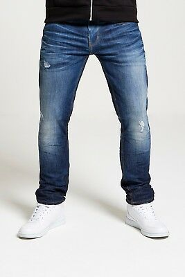 Mens Dml (Swarm) Hydroless Eco Slim Stretch Jeans In Mid & True Blue (Rrp £54.99