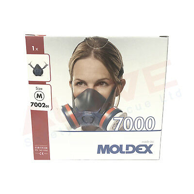 MOLDEX Series 7000 Half Face Mask Respirator with EasyLock Hookup 7002 Size M