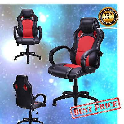 High Back Racing Style Chair Ergonomic Car Bucket Seat Office Desk Gaming