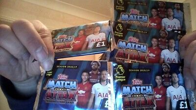 TOPPS MATCH ATTAX TRADING CARD GAME PREMIER LEAGUE 2018/2019 MULTI PACK 35 CARDS Albums, bladen