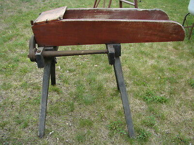 Vintage Antique Wood Farm Corn Stalk Cutter Chopper Great Garden Decoration