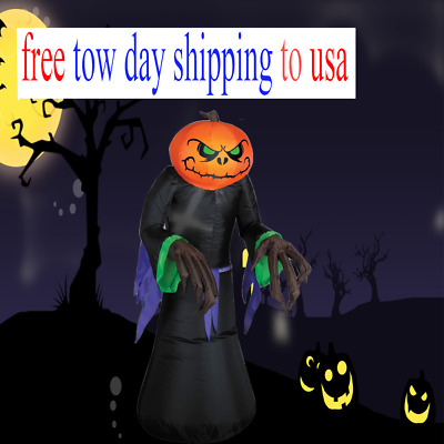 3ft Halloween Airblown Inflatable Pumpkin Reaper Ghost Outdoor Decorations Yard