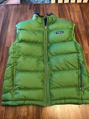 Patagonia Boys Kids Down Sweater Jacket Size M Medium 10 Deep Sea