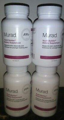 4 X Murad YOUTH BUILDER DIETARY SUPPLEMENT 120 Tablets Exp 02/19