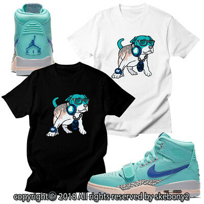 02260d351d808 CUSTOM T SHIRT MATCHING STYLE OF Air Jordan Legacy 312 Hyper Jade JDL 1-4-7