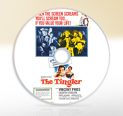 The Tingler (1959) DVD Classic Horror Movie / Film Vincent Price Judith Evelyn