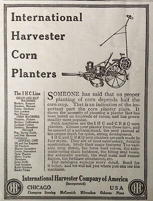 1914 Ad.(Xc18)~International Harvester Co. Ihc Line Of Corn Planters And Machine