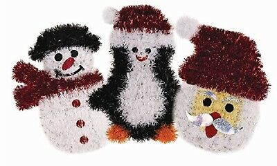 144x Christmas Tinsel Wall Plaques, Wholesale, Joblot