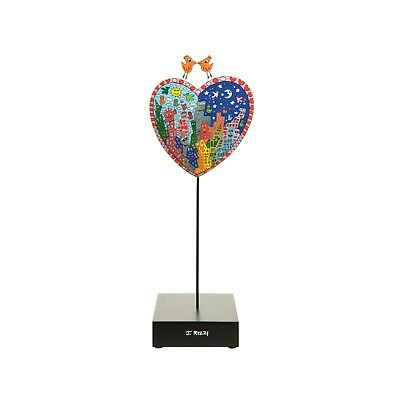 "James Rizzi: Skulptur Figur ""ITS HEART NOT TO LOVE MY CITY"", Porzellan, 33 cm"