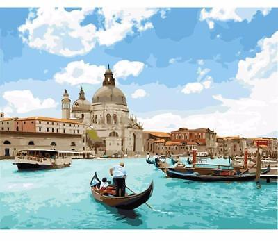 Venice Seascape VanGo Paint-By-Number Kit (without frame)