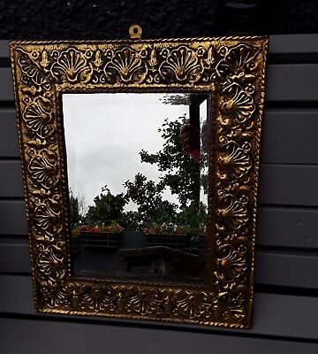 Antique Brass Framed Wall Mirror