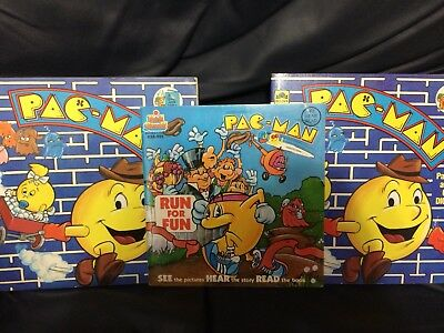 Vintage Pac-Man Book Lot - Run for Fun & Ghost Diggers Variants 80s