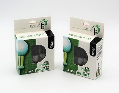 New Brush T Driver Golf Tees - 6 Tees