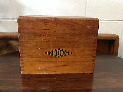 Antique Wood Index Box, Fingerjointed, Nice Decorative Piece