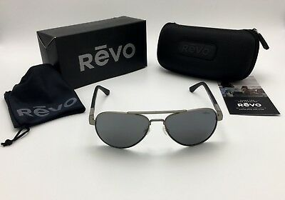 8d3fc2f92f4 Revo RE 1011 00 GY Raconteur POLARIZED Aviator Gunmetal Sunglasses - MADE  IN USA