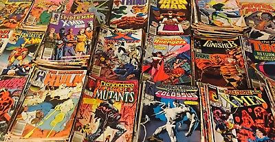 100 marvel comics Mixed  Lot From The 70s 80s And 90s