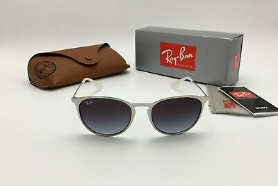 0843826610 Ray-Ban Erika METAL Sunglasses RB3539 9078 8G 54 Silver Black 3539 AUTHENTIC