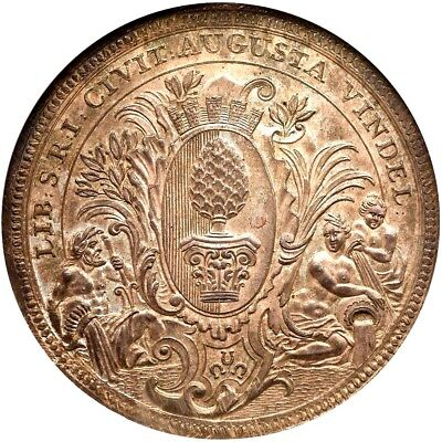 1741 IT German States Augsburg 2 Taler, NGC MS 66, Incredible Example, Germany