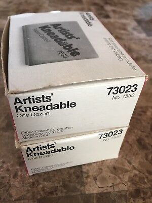 (21) Vintage Faber-Castell Kneadable Drawing Rubber Pencil Erasers 7530