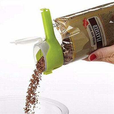 Storage-Bag Clip Keep  Food Fresh Plastic Helper Saver Seal Pour Sealer Tool*L