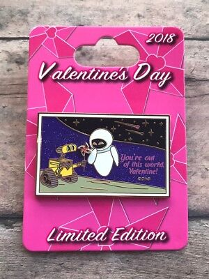 2018 Valentines Day Walle And Eve Limited Edition Disney Pin