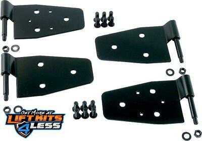 Rugged Ridge 11202.01 Gloss Blk Door Hinge Kit for 87-06 Jeep Wrangler (YJ)/(TJ)