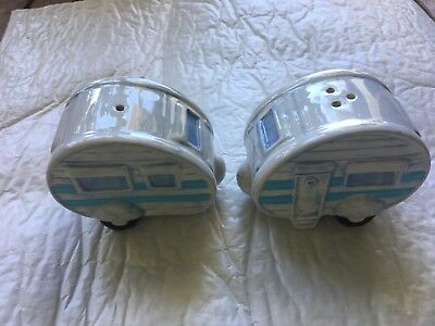 Collectable Ceramic Salt & Pepper Shakers Caravan Shape
