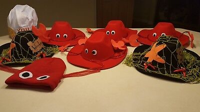 Halloween costume - Handmade Under the Sea hats for entire family, baby lobster