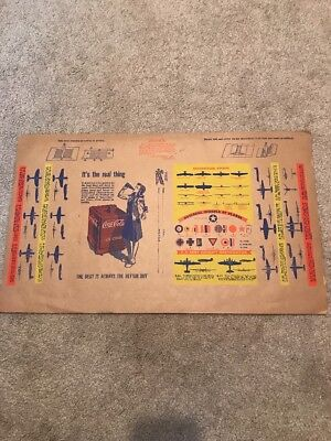 1940 RARE Vintage Original Kansas City MO Coca Cola Book Cover WITH WAR AIRPLANE