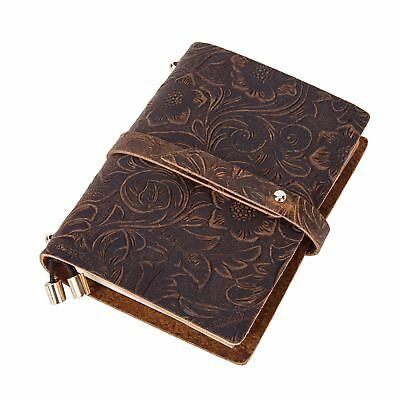 Vintage Genuine Leather Journal Notebook Notepad Blank Diary Writing Blank Book