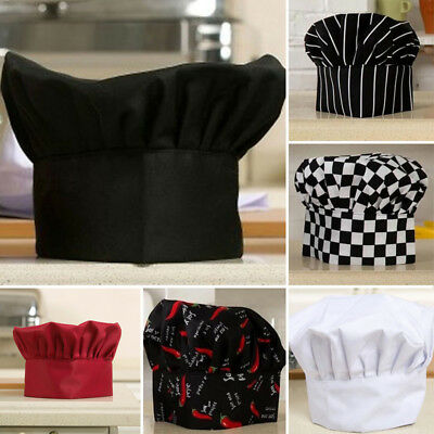 Chef Hat Comfortable Adjustable Mens Hat Catering For RestaurantsPubs Polyester