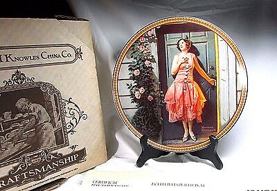 1983 Knowles China Rockwell's Rediscovered Women Standing in Doorway Plate (box)