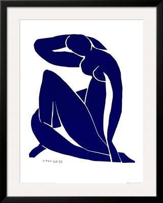 Blue Nude II Framed Art Print By Henri Matisse - 30.5x38.5