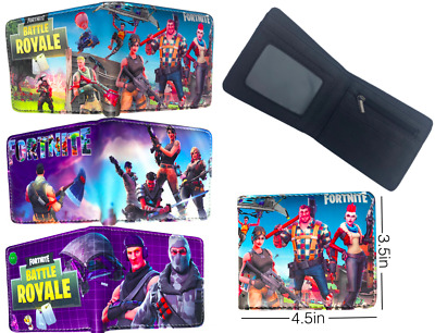 Fortnite Kids Wallet 3 Character Styles Battle Royal Synthetic Leather US Seller