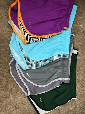 Lot of (4) Pairs Women's XS Nike Dri Fit Athletic Running Exercise Tempo Shorts