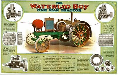 New 11x17 print: Waterloo Boy gas engine tractor early paint scheme poster sign