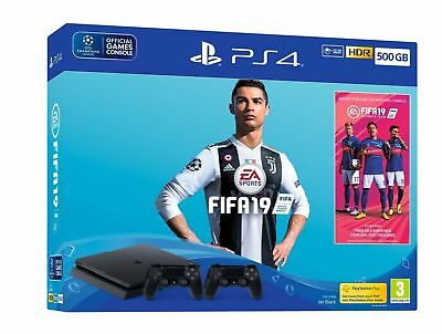 PS4 Slim 500GB Fifa 19 Console + Extra Controller NEW & SEALED