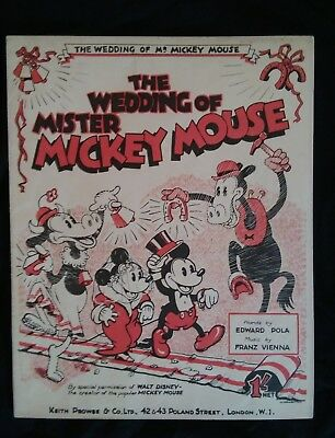 vintage antique 1930s Disney Mickey mouse sheet music