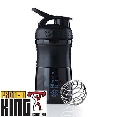 Blender Bottle Sport Mixer 590Ml Black Protein Shaker Cup Sportmixer 20 Oz