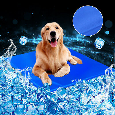New 5 SIZE Dog Cat Cool Bed Gel Mat Non-Toxic Cooling Summer Bed Pad Large XXL