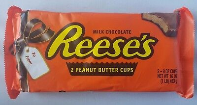 New Holiday Reese's 2 Giant Huge Half Pound Milk Chocolate Peanut Butter Cups