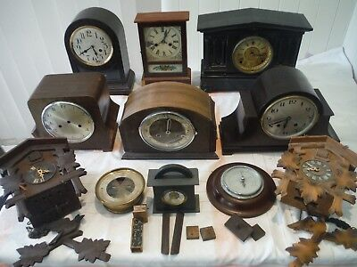 antique,vintage clocks x 11 ,for parts or repair only ,,.not working