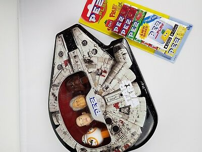 PEZ Star Wars Millennium Falcon Gift Tin (with new PEZ packet)