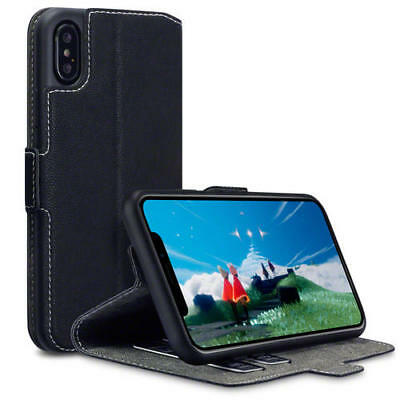 Terrapin Low Profile PU Leather Wallet Case for New Apple iPhone X / XS - Black