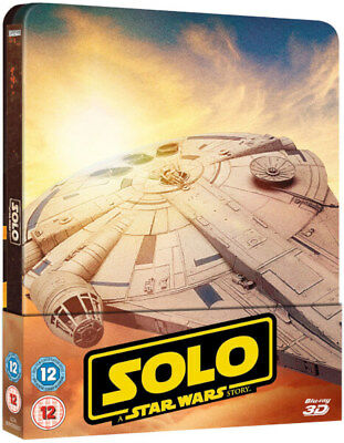 Solo A Star Wars Story Blu-ray Steelbook 3D + 2D  UK. Region Free